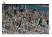 Midtown East Manhattan Skyline Aerial   Carry-all Pouch