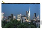 Milan Skyline By Night, Italy Carry-all Pouch