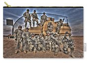 Military Police Pose For This Hdr Image Carry-all Pouch