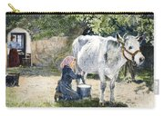 Milking, 19th Century Carry-all Pouch