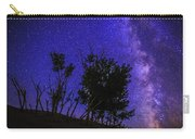 Milky Way And Silhouette Trees At Bruneau Dunes State Park Idaho Carry-all Pouch