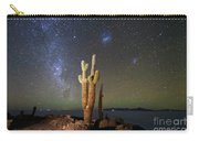 Milky Way Magellanic Clouds And Giant Cactus Incahuasi Island Bolivia Carry-all Pouch