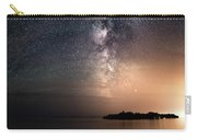 Milky Way Over Mary Island From Silver Harbour Near Thunder Bay Carry-all Pouch