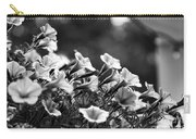 Mill Hill Inn Petunias Black And White Carry-all Pouch