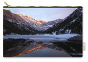 Spring Sunset At Mill's Lake In Rocky Mountain National Park, Colorado, Usa Carry-all Pouch