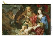 Minerva And Saturn Protecting Art And Science From Envy And Lies  Carry-all Pouch