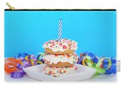Mini Donut Cake With  Blue Candle Carry-all Pouch