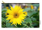 Mini Sunflower And Bud Carry-all Pouch