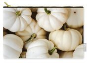 Mini White Pumpkins Carry-all Pouch