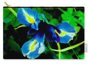 Miniature Blue Iris Carry-all Pouch