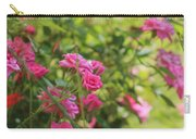 Miniature Fuchsia Roses Carry-all Pouch