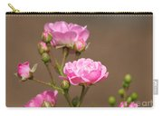 Miniature Pink Roses Carry-all Pouch