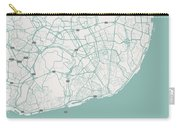 Minimalist Artistic Map Of Lisbon, Portugal 3 Carry-all Pouch