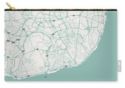 Minimalist Artistic Map Of Lisbon, Portugal 3a Carry-all Pouch