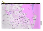 Minimalist Modern Map Of Brisbane, Australia 4 Carry-all Pouch