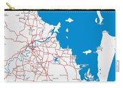 Minimalist Modern Map Of Brisbane, Australia 6 Carry-all Pouch
