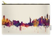 Minneapolis And New York Skylines Mashup Carry-all Pouch