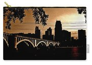 Minneapolis Skyline In Copper Carry-all Pouch