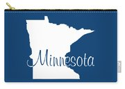 Minnesota In White Carry-all Pouch