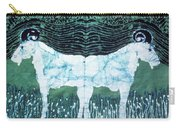 Mirror Image Goats In Moonlight Carry-all Pouch by Carol Law Conklin