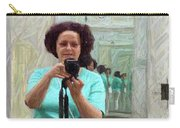 Mirrored Self-portrait Carry-all Pouch