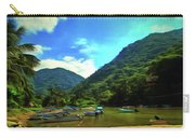Mismaloya River Fishing Boats 0344 Carry-all Pouch
