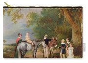 Miss Catherine Herrick With Her Nieces And Nephews Carry-all Pouch by John E Ferneley