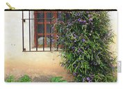Mission Window With Purple Flowers Vertical Carry-all Pouch