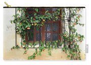 Mission Window With Yellow Flowers Vertical Carry-all Pouch
