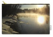 Mississippi River Bank Sunrise Carry-all Pouch