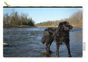 Mississippi River Dog On The Rocks Carry-all Pouch