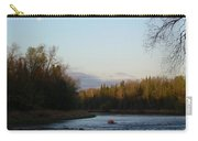 Mississippi River Moon At Dawn Carry-all Pouch