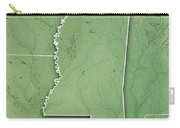 Mississippi State Usa 3d Render Topographic Map Border Carry-all Pouch