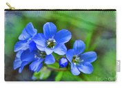 Missouri Wildflowers 5  - Polemonium Reptans -  Digital Paint 1 Carry-all Pouch