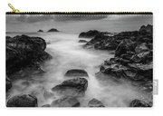 Mist On The Water In Monochrome Carry-all Pouch