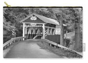 Misty Afternoon At Burkholder Black And White Carry-all Pouch