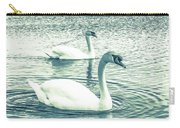 Misty Blue Swans Carry-all Pouch