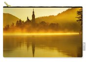 Misty Lake Bled At Sunrise Carry-all Pouch