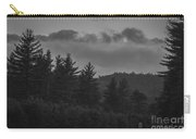 Misty Maine Woods Black And White 2 Carry-all Pouch