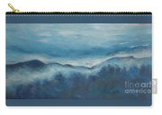 Misty Morning Fog Mount Mansfield Panorama Painting Carry-all Pouch