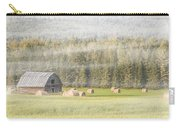 Misty Morning Haybales Carry-all Pouch