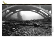 Misty Morning In Black And White Carry-all Pouch
