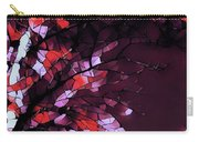 Misty Morning-purple And Red Carry-all Pouch
