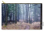 Misty Morning Trail In The Woods Carry-all Pouch