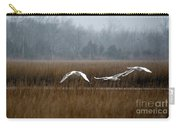 Misty Mute Swans Soaring South Jersey Wetlands Carry-all Pouch