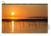 Misty Orange Sunrise On Boy Lake Carry-all Pouch