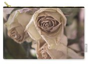 Misty Rose Tinted Dried Roses Carry-all Pouch