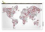 Mit University Colors Swirl Map Of The World Atlas Carry-all Pouch