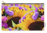 Mixed Autumn Flowers Carry-all Pouch