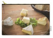 Mixed French Cheese Platter With Bread Carry-all Pouch
